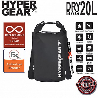 HyperGear Dry Bag 20L - IPX6 Waterproof Specification - Black