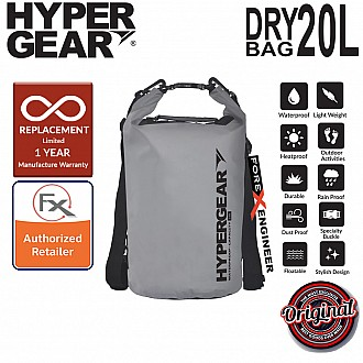 HyperGear Dry Bag 20L - IPX6 Waterproof Specification - Grey