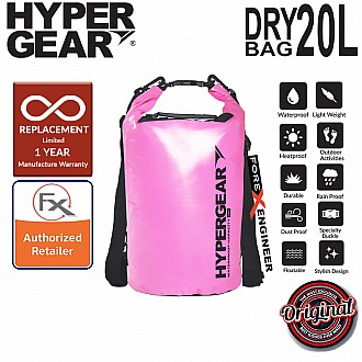 HyperGear Dry Bag 20L - IPX6 Waterproof Specification - Pink