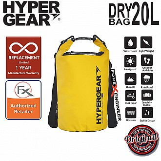 HyperGear Dry Bag 20L - IPX6 Waterproof Specification - Yellow