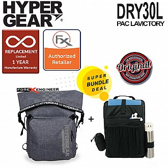 Hypergear Dry Pac LaVictory 30L - Heavy-duty Design and IPX6 Waterproof Specification - Snow Grey ( Bundle with Fast Slot E)