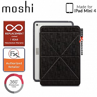 Moshi VersaCover with Folding Cover for iPad Mini 4 - Metro Black