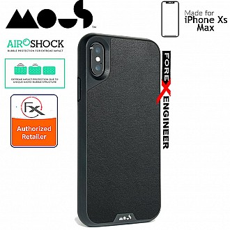 MOUS LIMITLESS 2.0 Case for iPhone Xs Max - AiroShock extremely shockproof protective - Black Leather