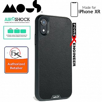 MOUS LIMITLESS 2.0 Case for iPhone XR - AiroShock extremely shockproof protective - Black Leather