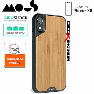 MOUS LIMITLESS 2.0 Case for iPhone XR - AiroShock extremely shockproof protective - Real Bamboo