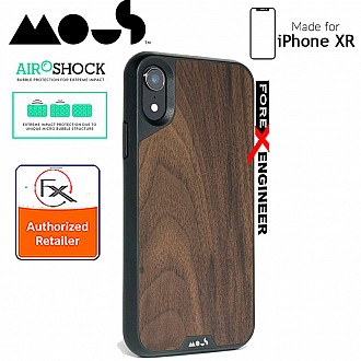 MOUS LIMITLESS 2.0 Case for iPhone XR - AiroShock extremely shockproof protective - Real Walnut
