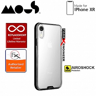 Mous Clarity Case for iPhone XR - Air Shock High Impact Material - Clarity Black