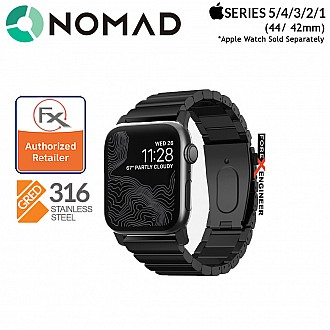 Nomad Steel Strap for Apple Watch 44mm / 42mm Series SE / 6 / 5 / 4 / 3 / 2 / 1 ( Black )