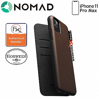 Nomad Rugged Folio Leather Case for iPhone 11 Pro Max ( Rustic Brown )