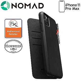 Nomad Rugged Folio Leather Case for iPhone 11 Pro Max ( Black )