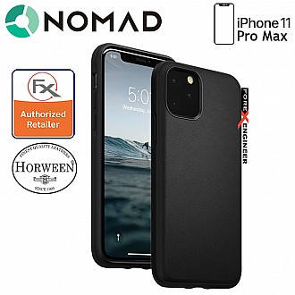 Nomad Active Rugged Case for iPhone 11 Pro Max - Water resistant leather / Kulit Kalis Air (Black)