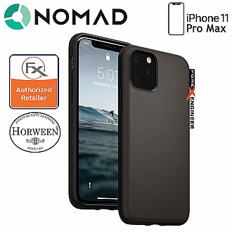 Nomad Active Rugged Case for iPhone 11 Pro Max - Water resistant leather / Kulit Kalis Air (Mocha Brown)