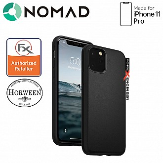 Nomad Active Rugged Case for iPhone 11 Pro - Water resistant leather / Kulit Kalis Air (Black)