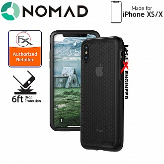 Nomad Hex Case for iPhone Xs / X - 2 Meters Mil-spec Drop Protection - Black