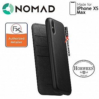 Nomad Leather Folio Case for iPhone Xs Max - Black