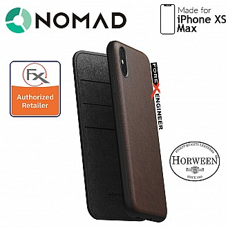 Nomad Leather Folio Case for iPhone Xs Max - Rustic Brown