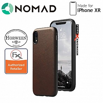 Nomad Rugged Case for iPhone XR  - Genuine Horween Leather from USA - Rustic Brown