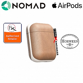 Nomad Rugged Case for AirPods - Genuine Premium Horween Leather from USA - Natural