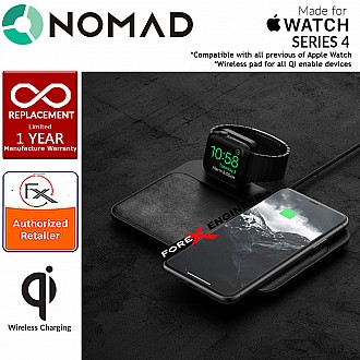 Nomad Wireless Charging Dock Base Station for  Apple Watch and works with all Qi enabled devices - MFi-certified Apple Watch Charger - Black (wireless charging station)