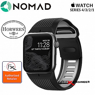 Nomad Sport Strap for Apple Watch Series SE / 6 / 5 / 4 / 3 / 2 / 1 ( 42 / 44 mm ) - Waterproof and hypoallergenic material - Black Color