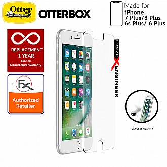 OtterBox Alpha Glass Screen Protector for iPhone 8 Plus / 7 Plus / 6s Plus / 6 Plus - Tempered Glass with Resists Scratches and Shattering - Clear