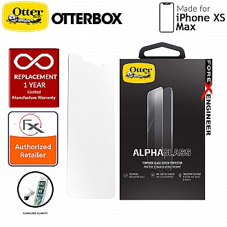 OtterBox Alpha Glass Screen Protector for iPhone Xs Max - Tempered Glass with Resists Scratches and Shattering - Clear