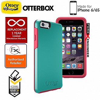 OtterBox Symmetry Series for iPhone 6s / 6 - Teal Rose