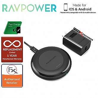 RAVPower Fast Wireless Charging Pad 7.5W - 10W with Quick Charge 3. 0 Adapter (wireless charging station)