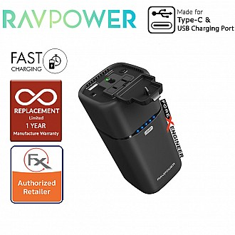 RavPower RP-PB054 AC Outlet 20100mAh Power Bank - compatible most mobile devices as well as any 240V home applaince up to 65W charged