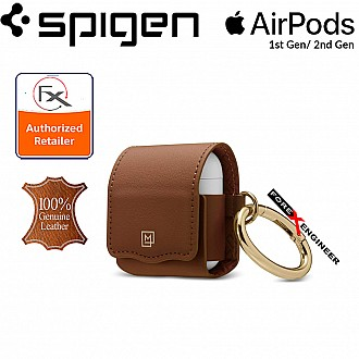 Spigen La Manon Leather for AirPods 2nd Gen / 1st Gen - Brown