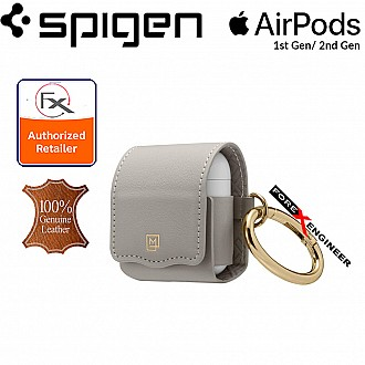Spigen La Manon Leather for AirPods 2nd Gen / 1st Gen - Light Gray