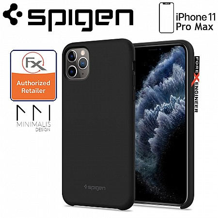 Spigen Silicone Fit for iPhone 11 Pro Max - Black