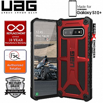 UAG Monarch for Samsung Galaxy S10+ / S10 Plus - Rugged Military Drop Tested - Crimson