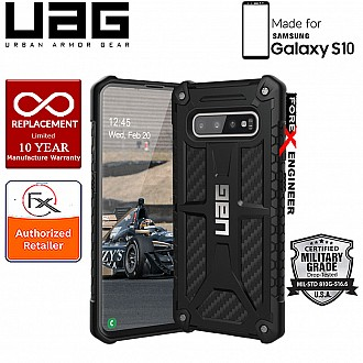 UAG Monarch for Samsung Galaxy S10 - Rugged Military Drop Tested - Carbon Fiber