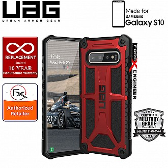 UAG Monarch for Samsung Galaxy S10 - Rugged Military Drop Tested - Crimson