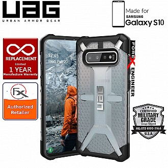 UAG Plasma for Samsung Galaxy S10 - Feather-Light Military Drop Tested - Ice