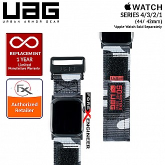 UAG Active Strap for Apple Watch Series 4 / 3 / 2 / 1 - 44mm / 42mm - High Strength Nylon Weave - Midnight Camo
