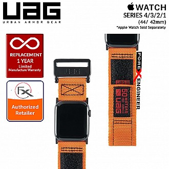 UAG Active Strap for Apple Watch Series 4 / 3 / 2 / 1 - 44mm / 42mm - High Strength Nylon Weave - Orange