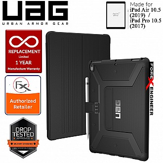 "UAG Metropolis for iPad Air 10.5"" (2019) / Pro 10.5"" (2017) - Built-in Apple Pencil Holder and Adjustable Stand - Black"