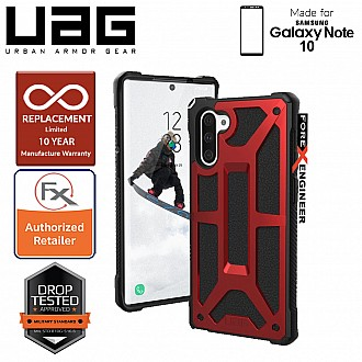 UAG Monarch for Samsung Galaxy Note 10 - Rugged Military Drop Tested - Crimson