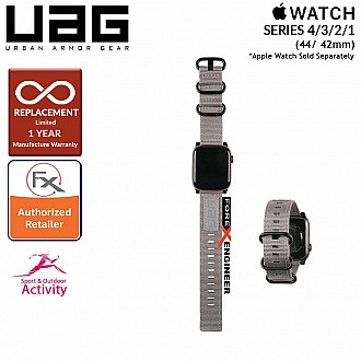 UAG Nato Strap for Apple Watch Series SE / 6 / 4 / 3 / 2 / 1 - 44mm / 42mm - High Strength Nylon Weave - Grey