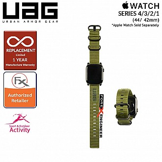UAG Nato Strap for Apple Watch Series SE / 5 / 4 / 3 / 2 / 1 - 44mm / 42mm - High Strength Nylon Weave - Olive Drab