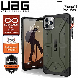 [READY-STOCK] UAG Pathfinder for iPhone 11 Pro Max - Feather Light Rugged & Military Drop Tested - Olive Drab