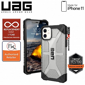 UAG Plasma for iPhone 11 - Feather Light Rugged & Military Drop Tested - Ice