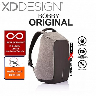 XD Design Bobby Bag Original - The Best Anti-Theft Backpack - Grey