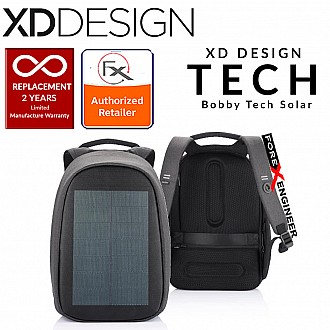 XD Design Bobby Tech Anti-Theft Backpack with Solar Panel and Wireless Charging (wireless charging station)