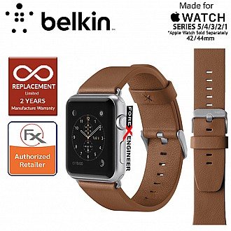 Belkin Classic Leather Band for Apple Watch Series SE / 6 / 5 / 4 / 3 / 2 / 1 ( 42mm / 44mm ) ( Tan ) ( Barcode : 745883723744 )
