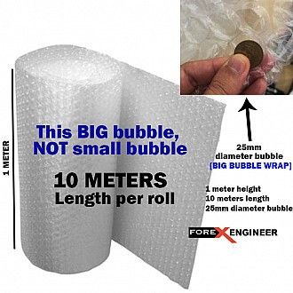 Bubble Wrap Packing Big Bubble 10M x 1M ( 25mm bubble size diameter ) ( Barcode :  595959 )