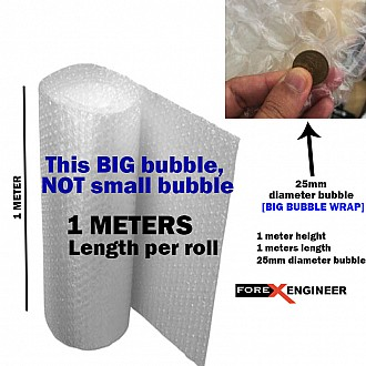 Bubble Wrap Packing Big Bubble 1M x 1M ( 25mm bubble size diameter ) ( Barcode : 565656 )