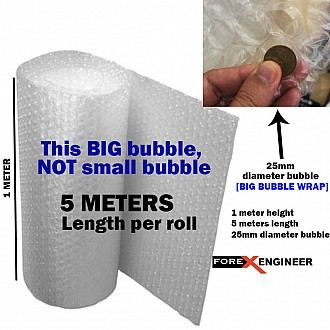 Bubble Wrap Packing Big Bubble 5M x 1M ( 25mm bubble size diameter ) ( Barcode : 585858 )